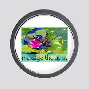 Massage Therapist / Waterlily Wall Clock