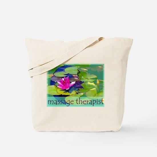 Massage Therapist / Waterlily Tote Bag