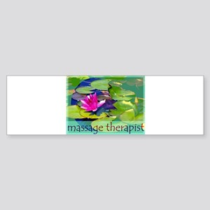 Massage Therapist / Waterlily Sticker (Bumper)