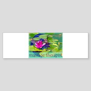 Massage Therapist / Waterlily Sticker (Bumper)