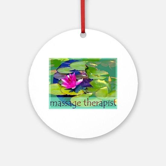 Massage Therapist / Waterlily Ornament (Round)