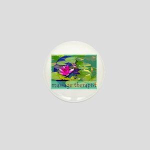 Massage Therapist / Waterlily Mini Button