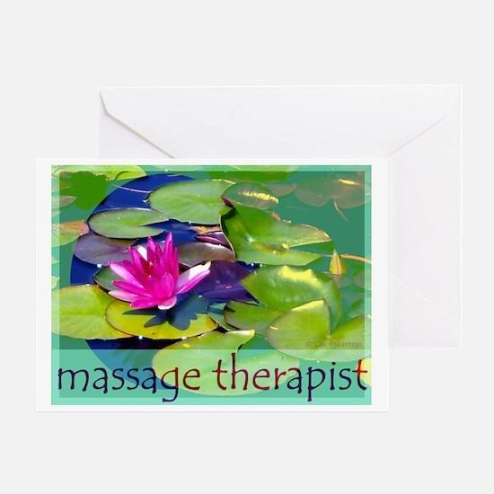 Massage Therapist / Waterlily Greeting Card