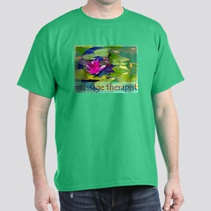 Massage Therapist / Waterlily Dark T-Shirt