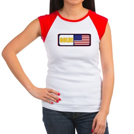 USA Gold Women's Cap Sleeve T-Shirt
