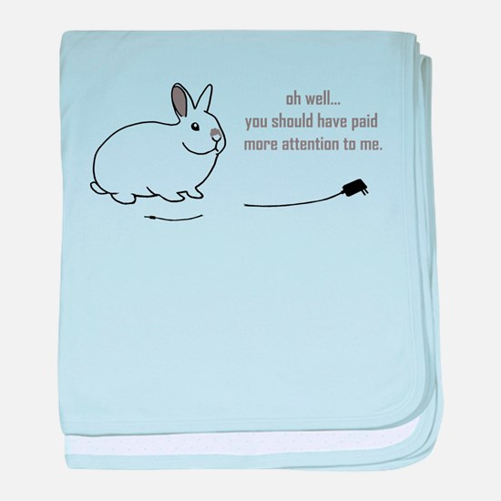 oh well... (bunnies chew cabl Infant Blanket