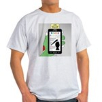 Brains - a Zombie Smart Phone Search Light T-Shirt