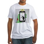 Brains - a Zombie Smart Phone Searc Fitted T-Shirt