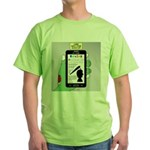 Brains - a Zombie Smart Phone Search Green T-Shirt