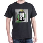 Brains - a Zombie Smart Phone Search Dark T-Shirt