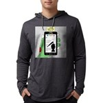 Brains - a Zombie Smart Phone Se Mens Hooded Shirt