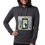 Brains - a Zombie Smart Phone Womens Hooded Shirt