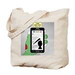 Brains - a Zombie Smart Phone Search App Tote Bag