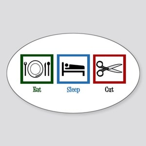 Eat Sleep Cut Sticker (Oval)