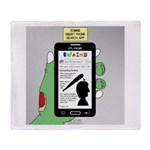 Brains - a Zombie Smart Phone Search Throw Blanket