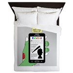 Brains - a Zombie Smart Phone Search A Queen Duvet