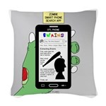 Brains - a Zombie Smart Phone Woven Throw Pillow