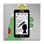 Brains - a Zombie Smart Phone Search Tile Coaster