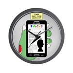 Brains - a Zombie Smart Phone Search Ap Wall Clock