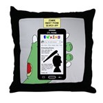 Brains - a Zombie Smart Phone Search Throw Pillow