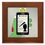 Brains - a Zombie Smart Phone Search A Framed Tile