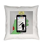 Brains - a Zombie Smart Phone Sear Everyday Pillow