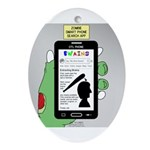 Brains - a Zombie Smart Phone Search Oval Ornament