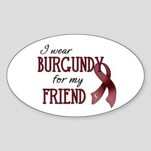 Wear Burgundy - Friend Sticker (Oval)