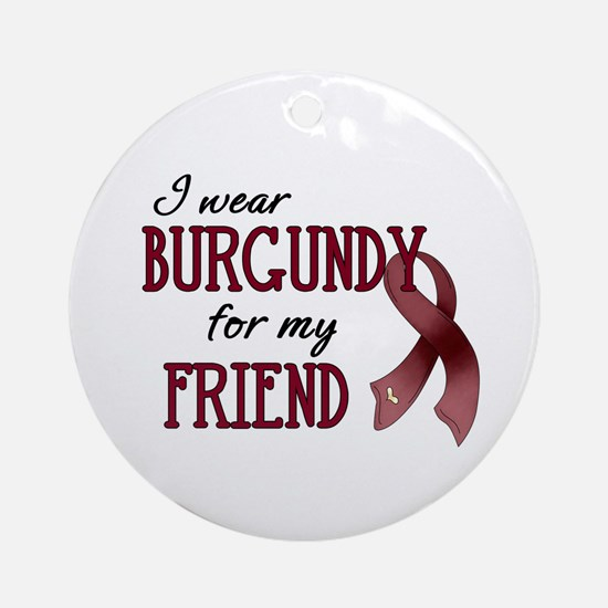Wear Burgundy - Friend Ornament (Round)