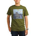 Cat Attitude Organic Men's T-Shirt (dark)