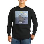 Cat Attitude Long Sleeve Dark T-Shirt