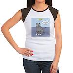 Cat Attitude Junior's Cap Sleeve T-Shirt
