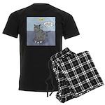 Cat Attitude Men's Dark Pajamas