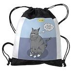Cat Attitude Drawstring Bag