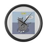 Cat Attitude Large Wall Clock