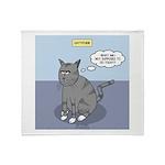 Cat Attitude Throw Blanket