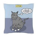Cat Attitude Woven Throw Pillow