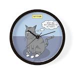 Cat Attitude Wall Clock