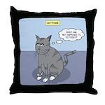 Cat Attitude Throw Pillow