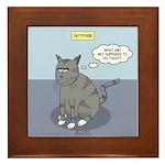 Cat Attitude Framed Tile