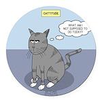 Cat Attitude Round Car Magnet