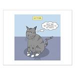 Cat Attitude Small Poster