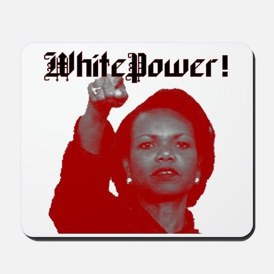 white power Mousepad