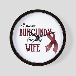 Wear Burgundy - Wife Wall Clock