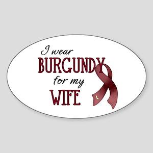 Wear Burgundy - Wife Sticker (Oval)