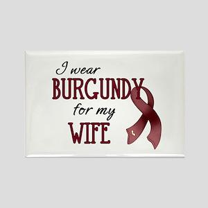 Wear Burgundy - Wife Rectangle Magnet