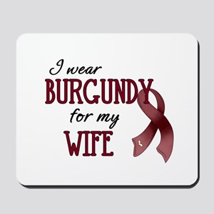 Wear Burgundy - Wife Mousepad