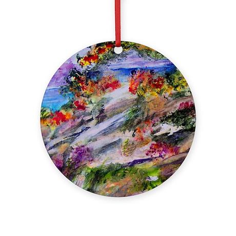 Tropical Mountain Retreat Ornament (Round)