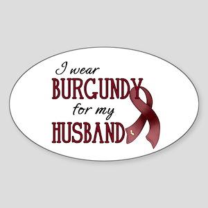 Wear Burgundy - Husband Sticker (Oval)