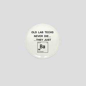 Old Lab Techs Mini Button